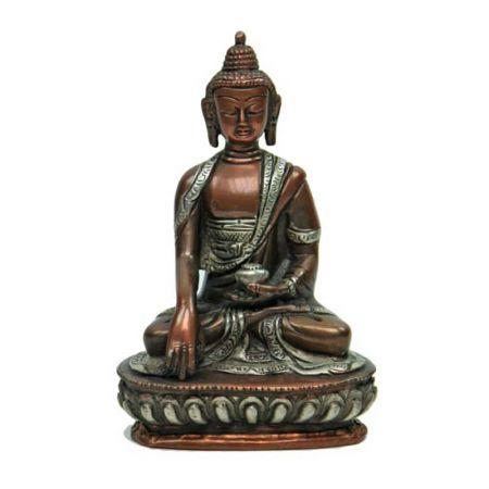 Buddha con mudra bhumisparsa statua