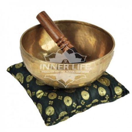 Cuscino verde per campana tibetana Medio