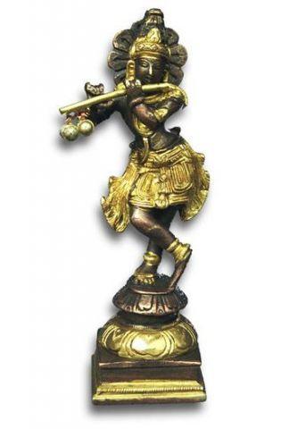 Krishna con flauto statua